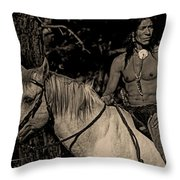 Time Of Old Throw Pillow