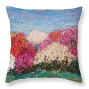 Time Of Rhododendron Throw Pillow