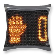 Time Out Sign With Text Throw Pillow