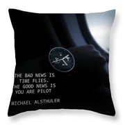 Time Quote Throw Pillow