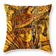 Time Rain Throw Pillow