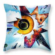 Time. Shattered Pieces Throw Pillow