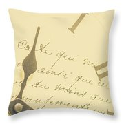 Time Signatures Throw Pillow