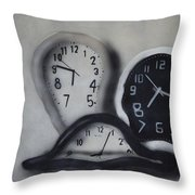 Time Slipping Away Throw Pillow