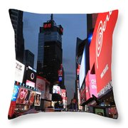 Time Square New York City Throw Pillow