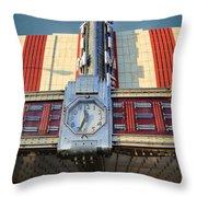 Time Theater Marquee 1938 Throw Pillow