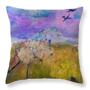 Time To  Feel The Breeze Throw Pillow