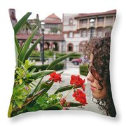 Time To Smell The Flowers Throw Pillow