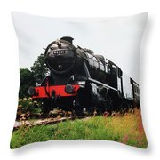 Time Travel By Steam Throw Pillow by Martin Howard