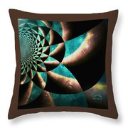 Time Travel Galaxy Portal To The Stars - Teal Green Throw Pillow