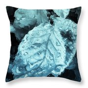 Time Travel Winter Leaves Throw Pillow