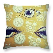 Time Waits For No Man, And Tomorrow Is Throw Pillow