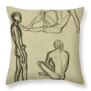 Timed Gestures Exercise Throw Pillow by Angelique Bowman