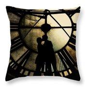 Timeless Love - Golden Brown Throw Pillow