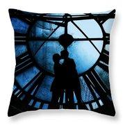 Timeless Love - Midnight Blue Throw Pillow