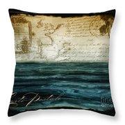 Timeless Voyage II Throw Pillow
