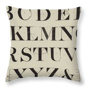 Times New Roman Throw Pillow