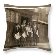 Times Newsboys On Street Throw Pillow