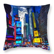 Times Square 7453 Throw Pillow