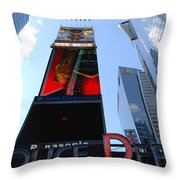 Times Square Cops Throw Pillow