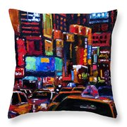 Times Square Throw Pillow by Debra Hurd