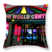 Times Square Fading Throw Pillow
