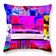 Times Square Frenzy Throw Pillow