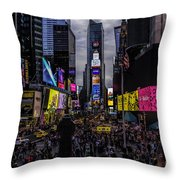 Times Square From The Steps Throw Pillow
