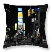 Times Square New York City Big Apple Throw Pillow