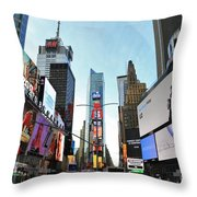 Times Square New York City Throw Pillow