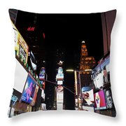 Times Square New York City New Years Eve Throw Pillow