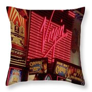 Times Square Night Throw Pillow