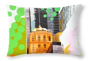 Times Square Ny Advertise Throw Pillow