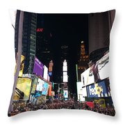 Times Square On A Tuesday. Throw Pillow