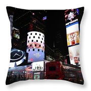 Times Square On News Year Eve Throw Pillow
