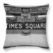Times Square Station Tablet Throw Pillow