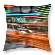 Times Square Traffic Throw Pillow