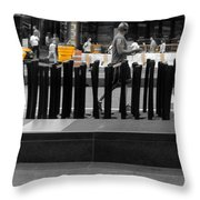 Times Square Yellow Sunday Morning Throw Pillow