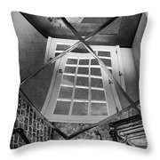 Time's Up - Black And White Throw Pillow