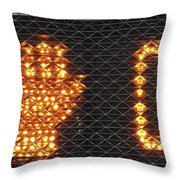 Times Up Sign With Text Throw Pillow