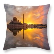 Timeslice A Day To Night Of By The Lake Throw Pillow