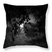 Timid Moon Throw Pillow