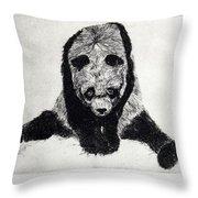 Timido Panda Throw Pillow