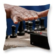 Timing The Chess Move Throw Pillow