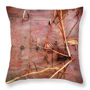 Tin Door - Red Pond Throw Pillow