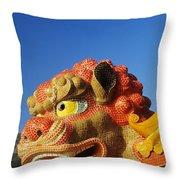 Tin Hua Temple Throw Pillow