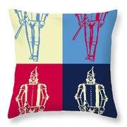 Tin Man Pop Art Poster Throw Pillow