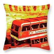 Tin Sign Travels Throw Pillow
