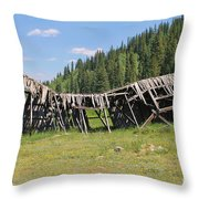 Tincup History 3 Throw Pillow