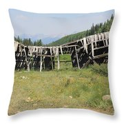 Tincup History 4 Throw Pillow